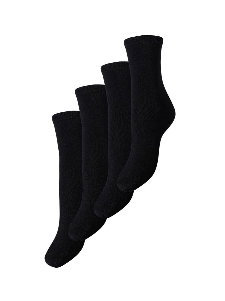4-PACK MODAL-BLEND SOCKS, Black, highres