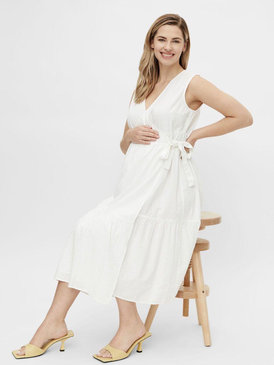 Mama.licious PCMTERETA MATERNITY DRESS, Bright White, highres - 20013998_BrightWhite_003.jpg