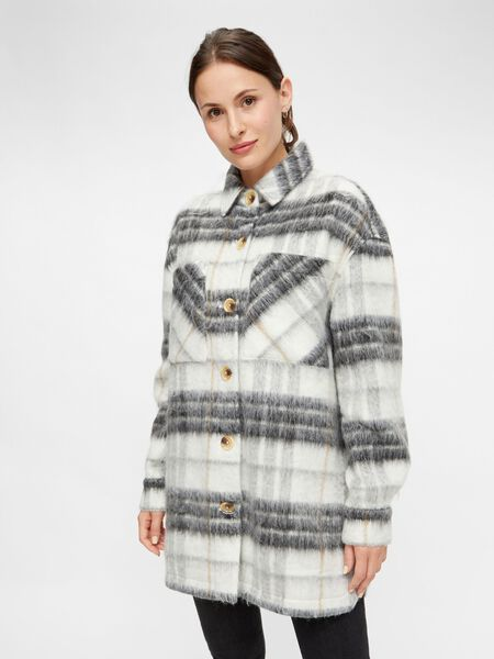 CHECKED LONG JACKET