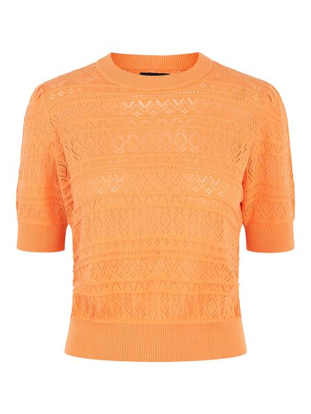 MANCHES COURTES PULL EN MAILLE