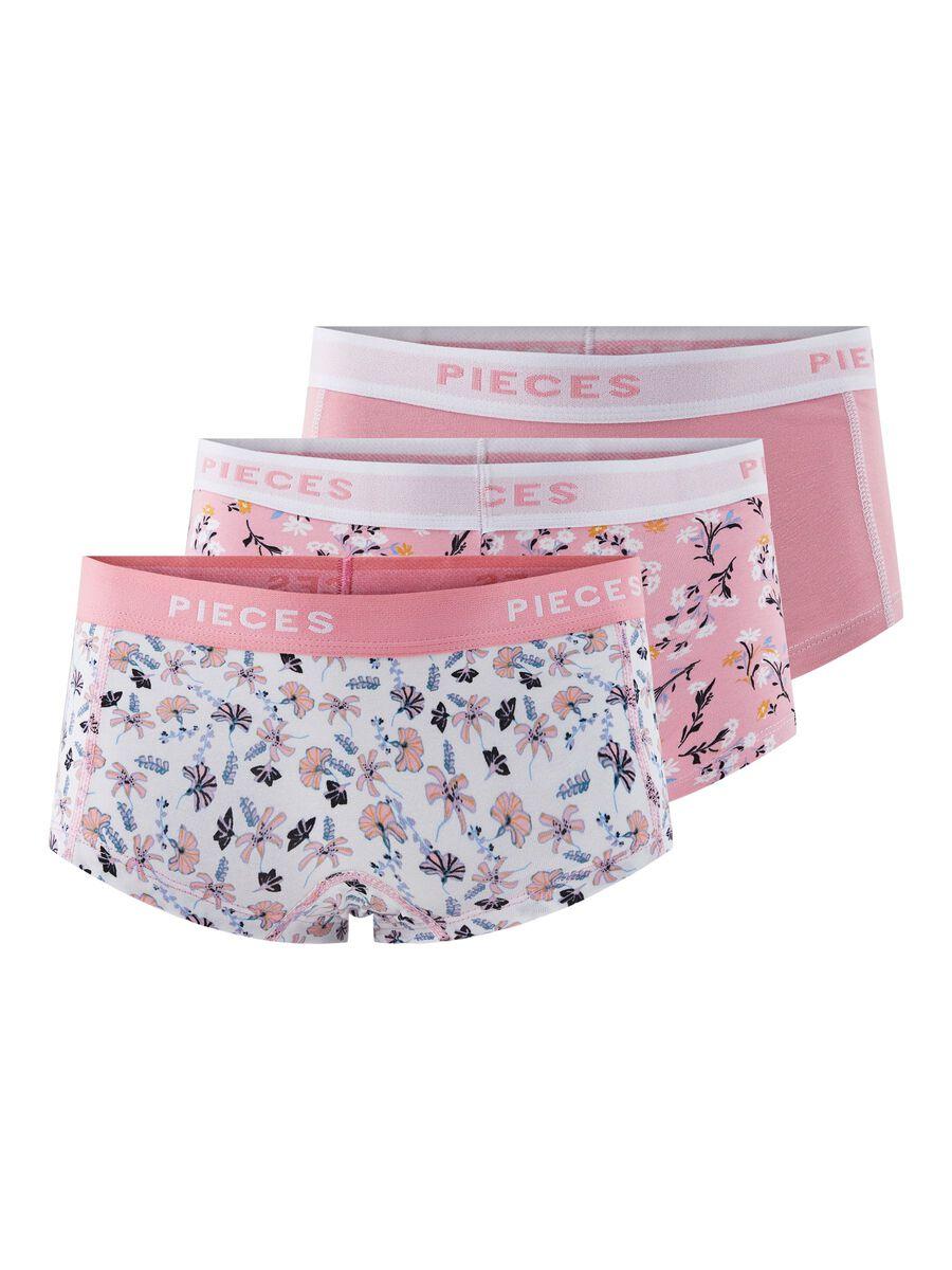 Pieces 3-PAK LOGO BOXERSHORTS, Sea Pink, highres - 17105844_SeaPink_786912_001.jpg
