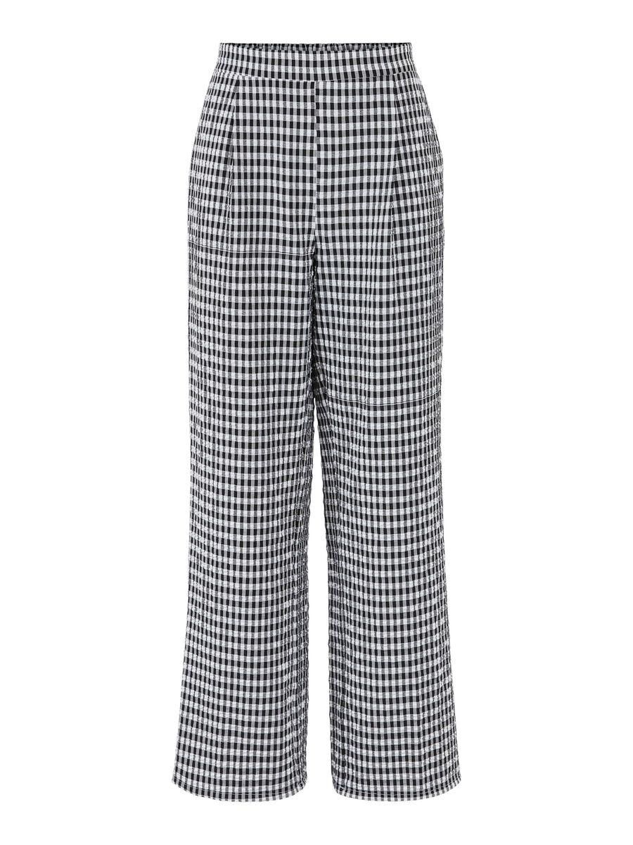 Pieces TALL CHECKED TROUSERS, Bright White, highres - 17117713_BrightWhite_889573_001.jpg
