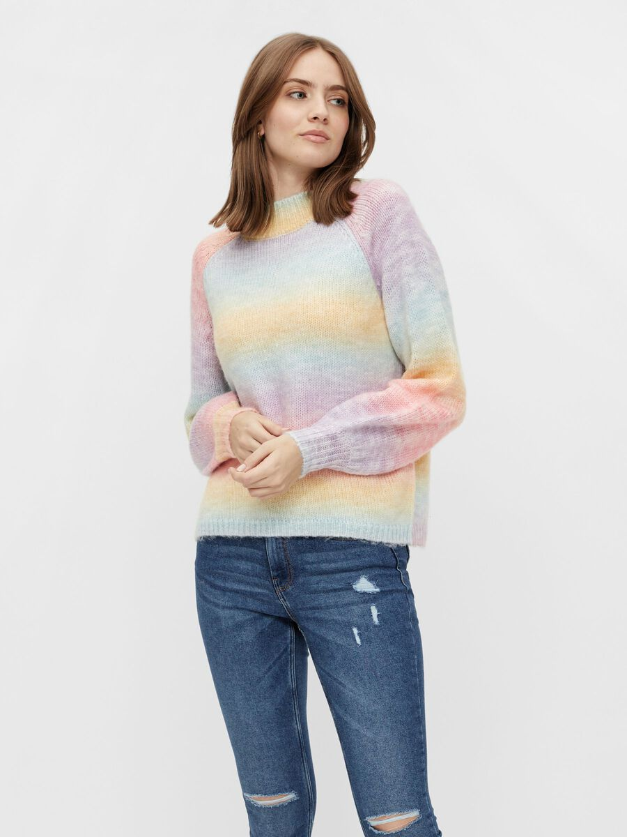 Pieces PCRAINBOW KNITTED PULLOVER, Orchid Bloom, highres - 17117748_OrchidBloom_889843_003.jpg