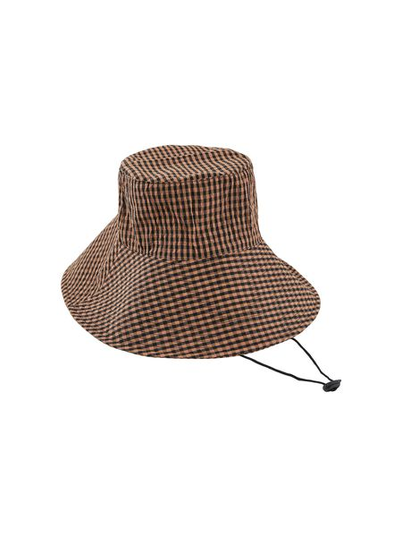 PCTYLLA CHECKED BUCKET HAT