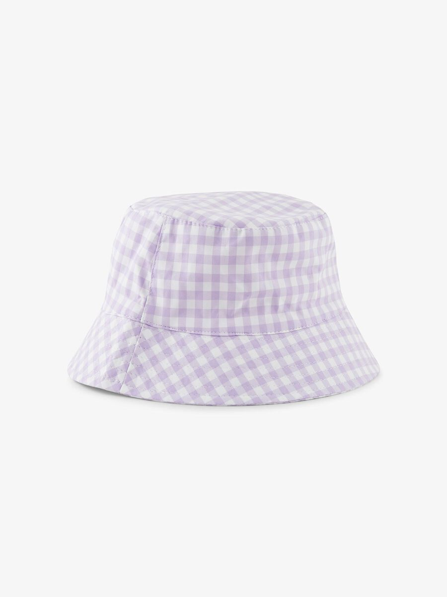 Pieces PCLAYA CHECKED BUCKET HAT, Orchid Bloom, highres - 17113066_OrchidBloom_845802_001.jpg