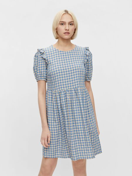 CHECKED SHORT SLEEVED DRESS