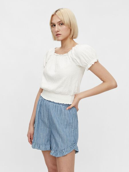 CROPPED SMOCK TOP