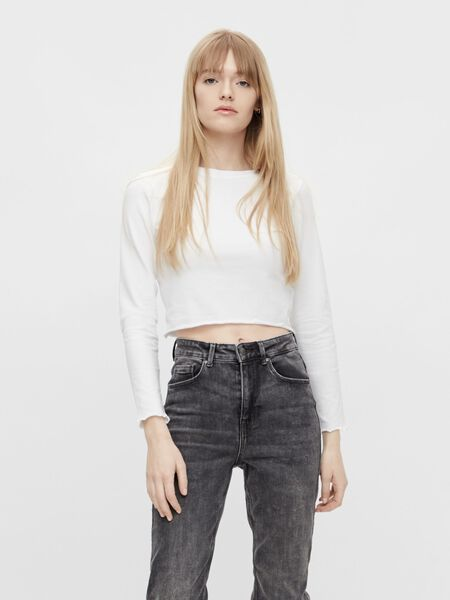 CROPPED LONG SLEEVED TOP