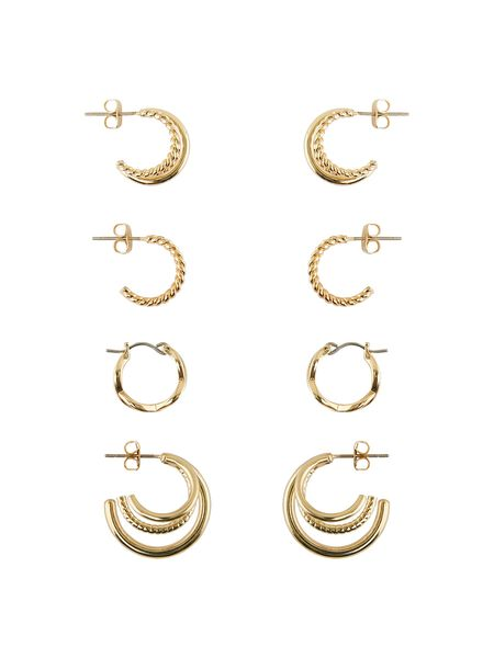 4-PACK HOOP EARRINGS