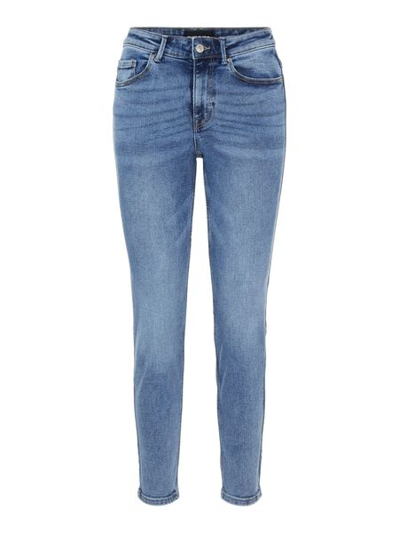 PCLILI MID WAISTED SLIM FIT JEANS