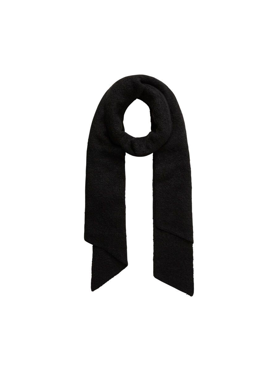 PCPYRON LONG SCARF, Black, highres