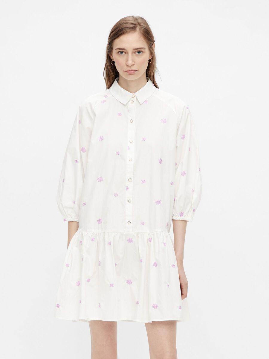 Pieces PCNITSI SHIRT DRESS, Bright White, highres - 17118223_BrightWhite_925622_003.jpg