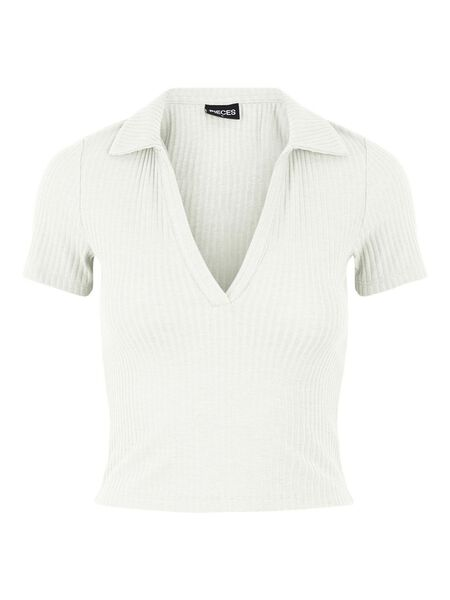 POLO STYLE CROPPED TOP
