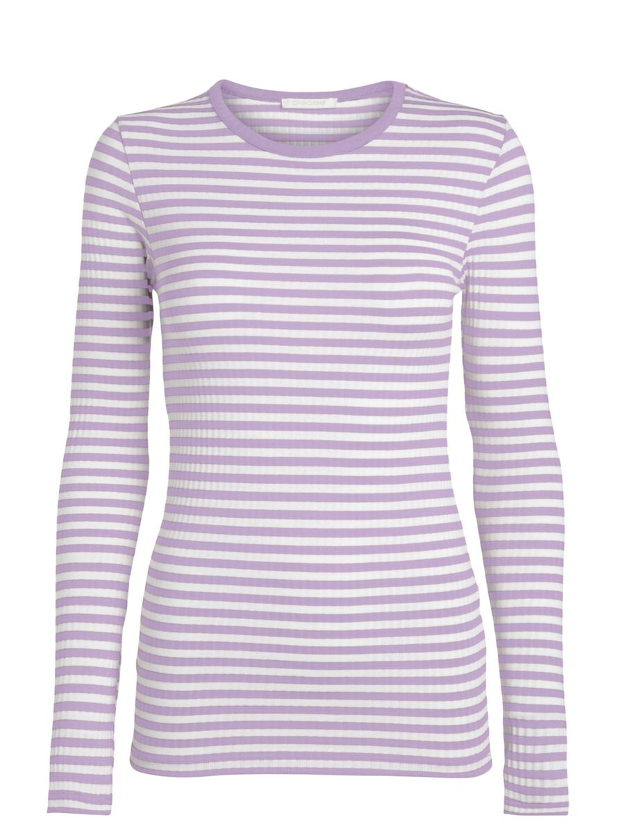 Pieces STRIPED LONG SLEEVED TOP, Orchid Bloom, highres - 17112965_OrchidBloom_845268_001.jpg