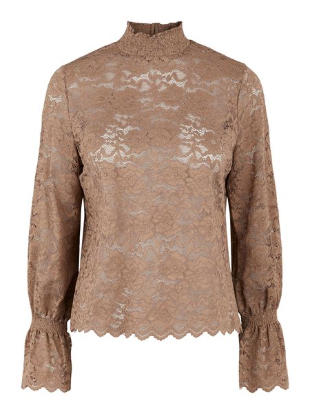 Pieces PCEMILY BLOUSE - Taupe Gray - 17117616_TaupeGray_001.jpg