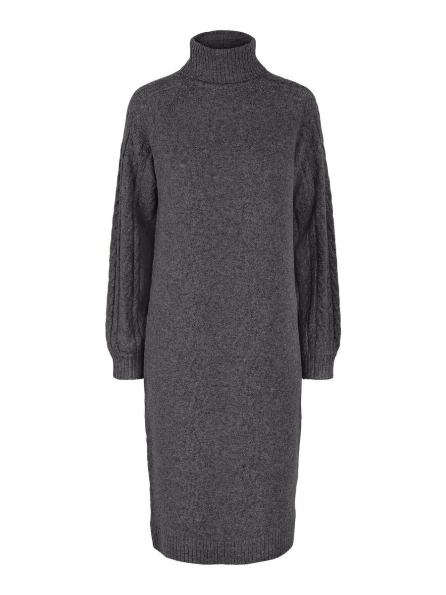 Pieces PCFUNA KNITTED DRESS, Dark Grey Melange, highres - 17115924_DarkGreyMelange_001.jpg