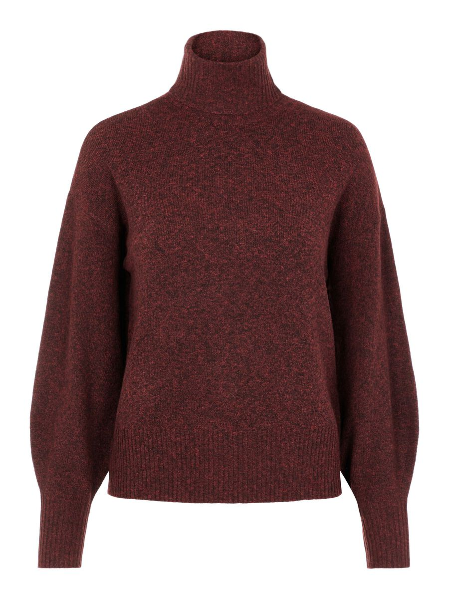 Pieces PCCAVA KNITTED PULLOVER, Red Mahogany, highres - 17114704_RedMahogany_858798_001.jpg