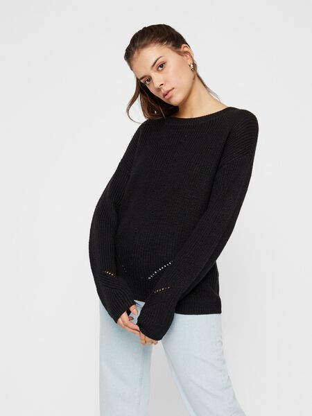 EYELET KNITTED PULLOVER
