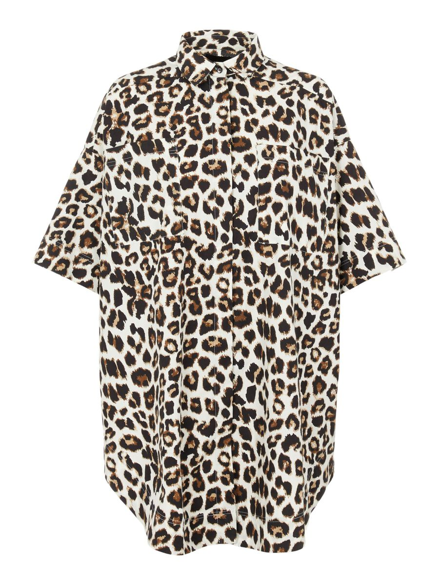 PIECES Oversized Kortærmet Skjorte Kvinder Coloured