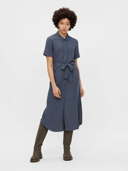MIDI-LENGTH SHIRT DRESS