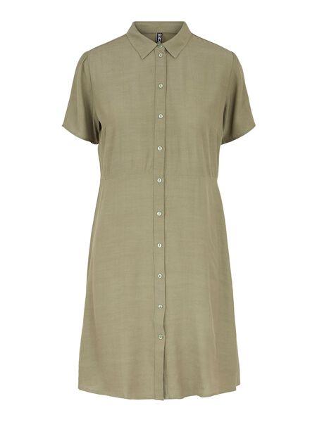 PCSOLIDA SHIRT DRESS
