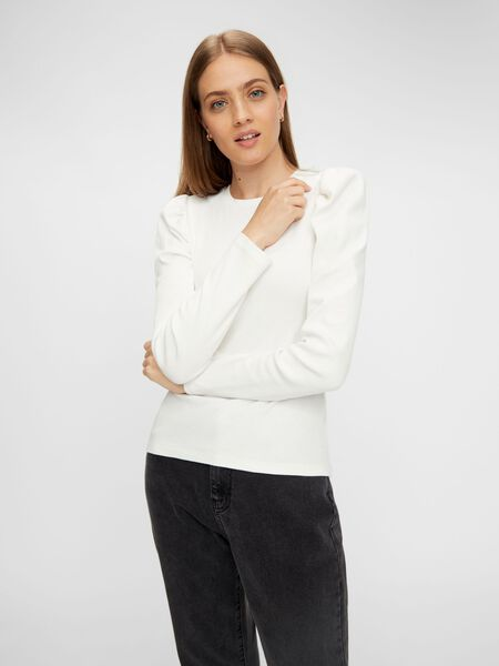 PUFF SHOULDER LONG SLEEVED TOP