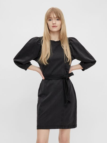 TIE WAIST SWEAT DRESS