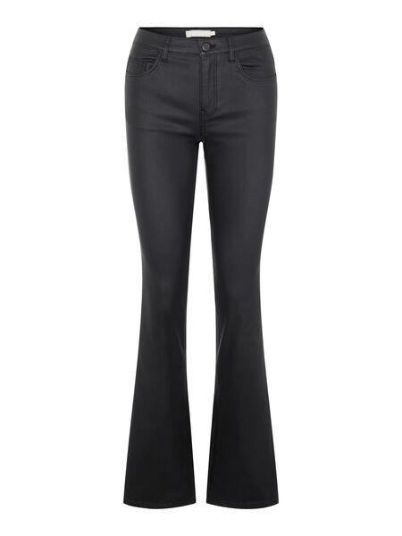 COATED FLARED JEANS
