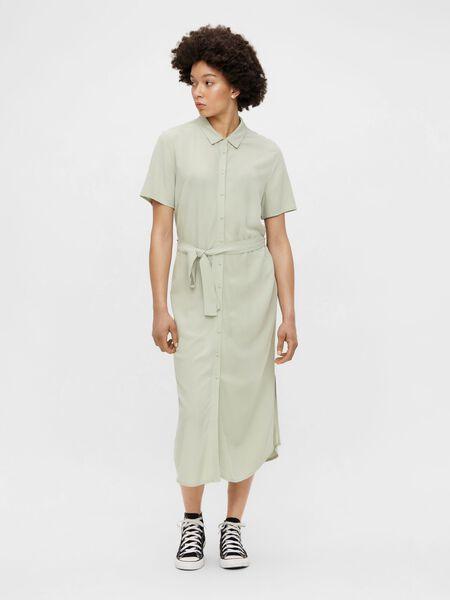 MIDI-LENGTH SHIRT DRESS