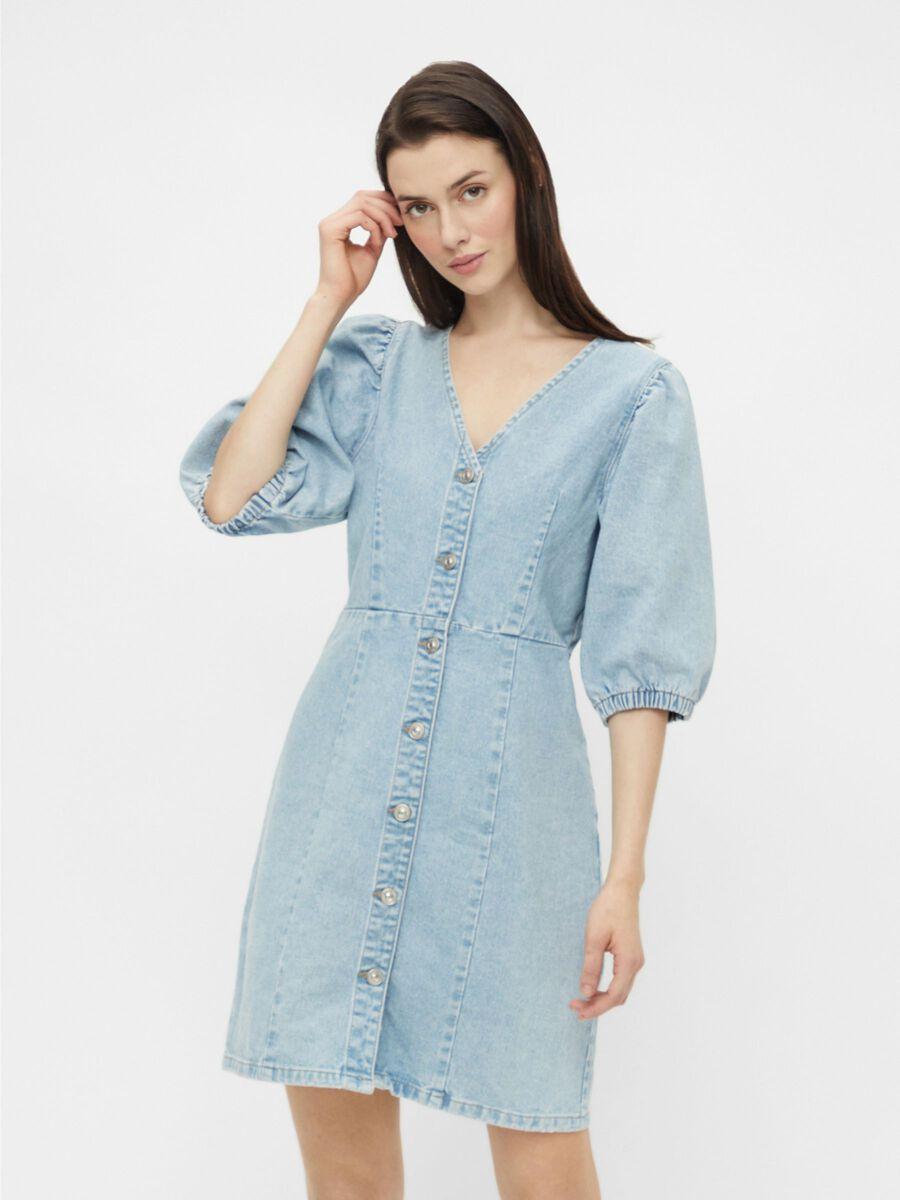 Pieces PCGILI DENIM DRESS, Light Blue Denim, highres - 17111079_LightBlueDenim_003.jpg