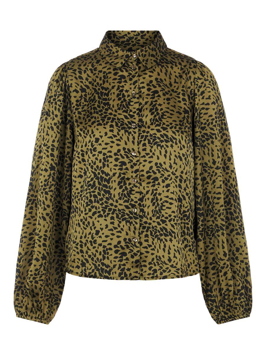 PIECES Printet Langærmet Skjorte Kvinder Coloured