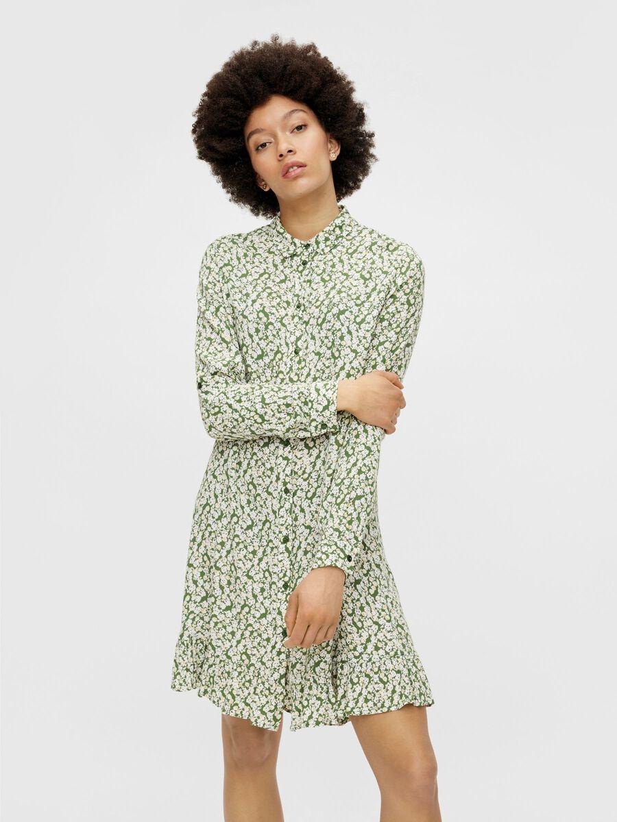 Pieces PCLUA SHIRT DRESS, Garden Green, highres - 17115387_GardenGreen_871015_003.jpg