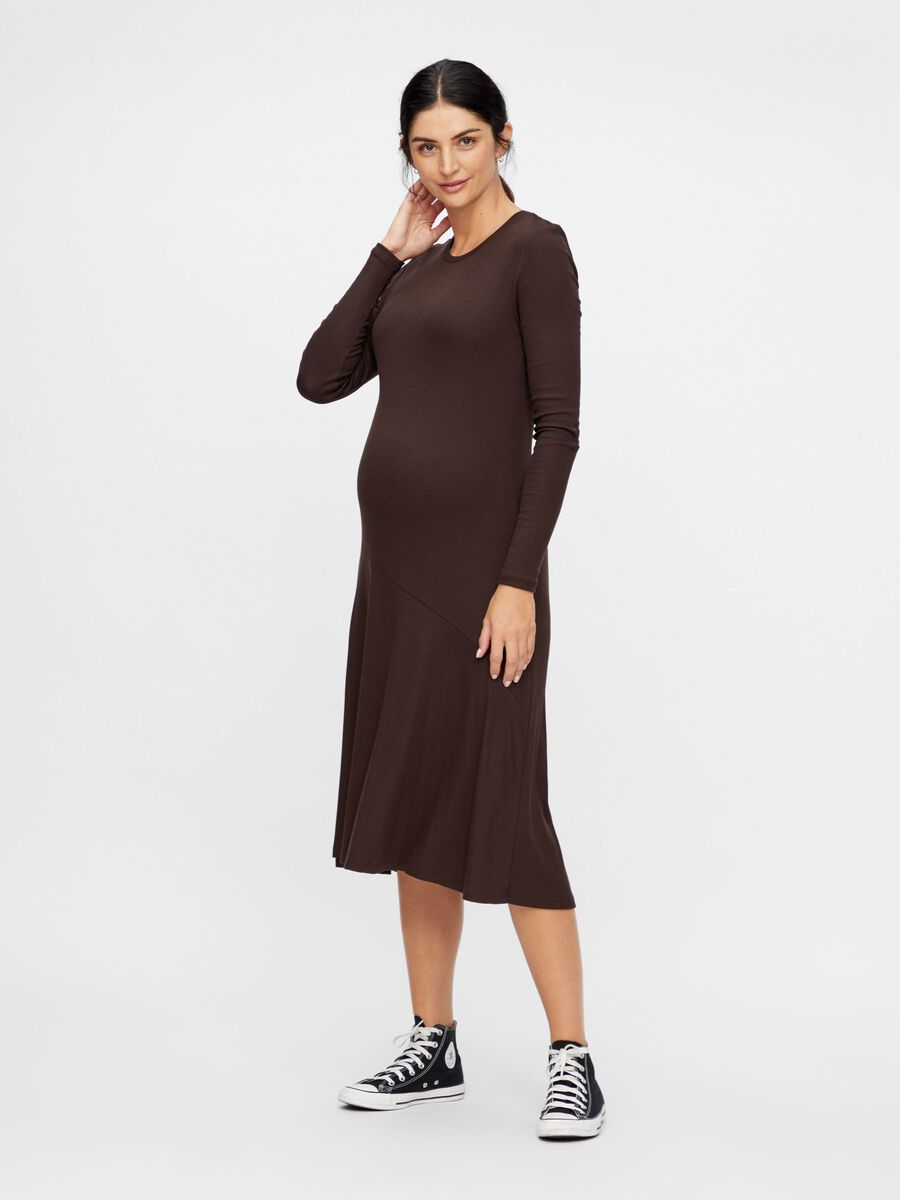 KNITTED BODYCON MATERNITY DRESS, Mole, highres