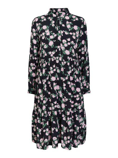 FLORAL-PRINT SHIRT DRESS