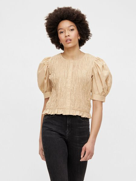 PUFF SLEEVED SMOCK TOP