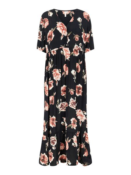 FLORAL PRINTED ANKLE MAXI DRESS