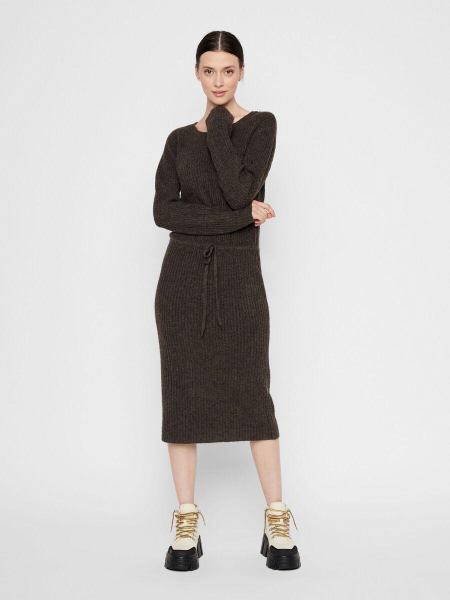 PCSUNA KNITTED DRESS, Mole, highres